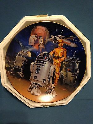 Star Wars R2-D2 Heroes and Villains Collector Plate, Hamilton from 1999