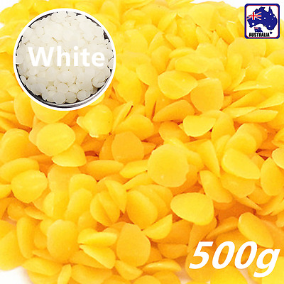 500g Yellow/White 30%Beeswax Drops Pastilles Pellets  Beads SBEA544
