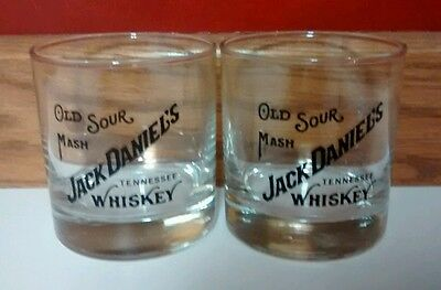 Jack Daniels Old Sour Mash Tennessee Whiskey Glasses (Set of 2)