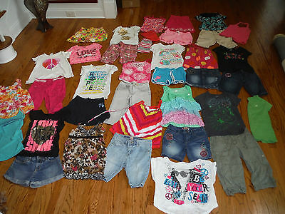 HUGE LOT Girls Spring & Summer Outfits Shorts Shirts GAP JUSTICE  Size 10 12 EUC