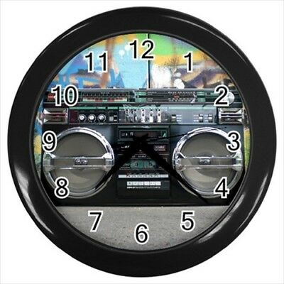 Old School Boom Box Wall Clock - Unique Novelty Gifts