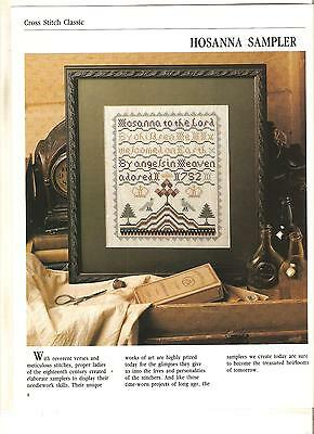 "Counted Cross~Stitch Chart To Stitch The  ""hosanna"" Sampler"