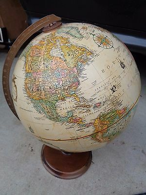 "Vintage  Replogle 12"" Raised Topography Globe World Classic Series"