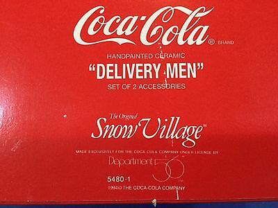 Dept 56 Snow Village® Coca-Cola® Delivery MEN Set of 2 - BRAND NEW