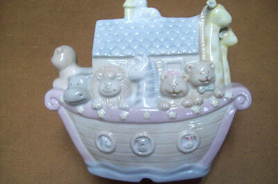 Russ Berry Noah's Ark Table Night Lamp Baby Two By Two Pastel