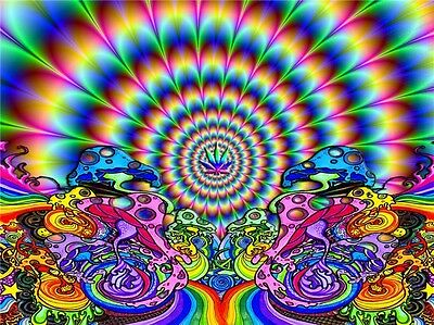 "Trippy Art Print Digital Miscellaneous Psychedelic 17/"" x 13/"" Poster T204"