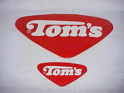 2 -- Vintage Tom's Peanut Decals For Jars / Displays / Cabinets / Vending, Lance