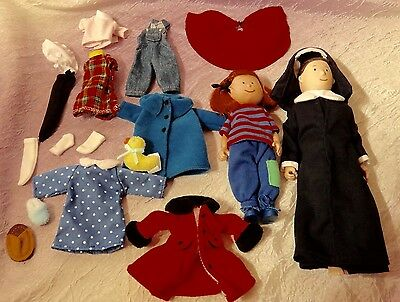Madeline Doll Lot and Clothes Eden