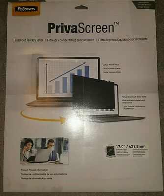 "FELLOWES 4800301 17"" PrivaScreen(TM) Blackout Privacy Filter"