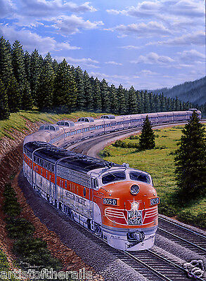 Railroad Art Print - Western Pacific, California Zephyr - Feather River Route