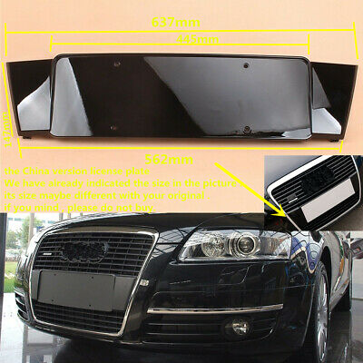 Front Licence Plate Bracket Shiny Gloss Black Fit For AUDI Q5 13-17 8R0807285P