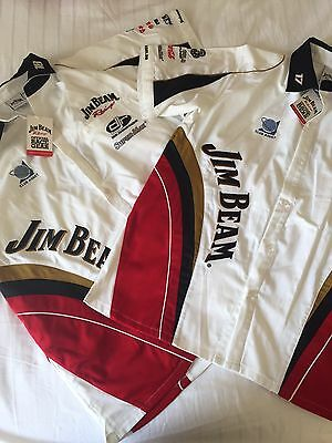 BNWT Men's V8 Supercars Official Jim Beam Racing Shirts
