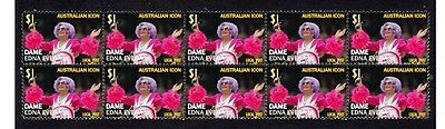 Dame Edna Everage Aust Icon Strip Of 10 Mint Stamps 4