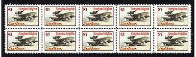 Seaplanes Strip Of 10 Mint Stamps, Douglas Dolphin