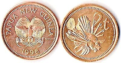 40 Papua New Guinea 2 Toea Bronze Uncirclated Coins KM 2,Butterfly Cod,Lion Fish