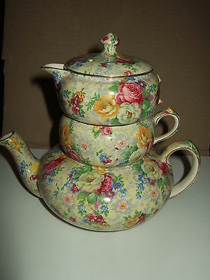Lord Nelson Rose Time Chinz stacking mini tea set floral handle tea set REDUCED