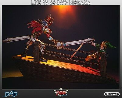 FIRST 4 FIGURES Link vs Scervo Diorama Statue Figure F4F NEW SEALED
