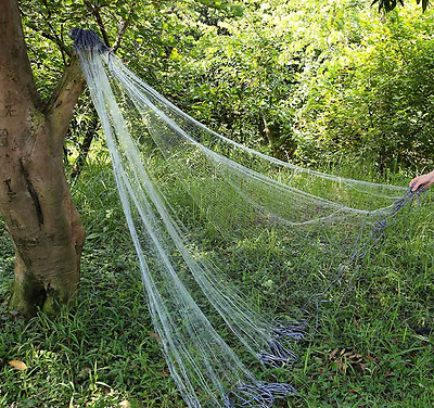 Fishing Gill Net Monofilament 3 Layers Fishing Net with Float Mesh Hole Fishnet