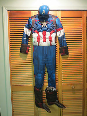 Marvel Avengers Age Of Ultron Captain America Child Costume Size Large 12-14