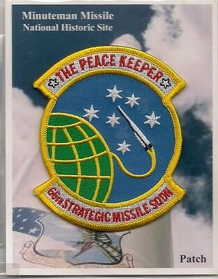 """Souvenir Patch - Minuteman Missile National Historic Site - """"66Th"""" Peace Keeper"""