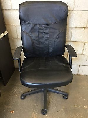 Black Leather Computer Chair, Rotating Chair armchair study office desk