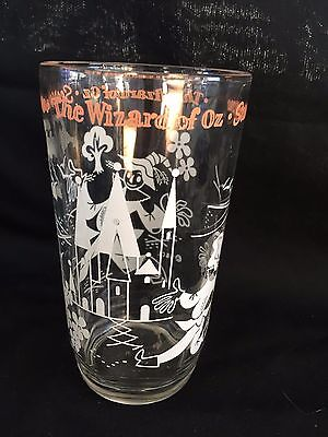 """Vintage Wizard Of Oz Scarecrow Peanut Butter Glass Tumbler 5"""" Character"""