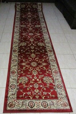 New Extra Long Persian Design Heatset Floor Hallway Runner Rug 80X500Cm