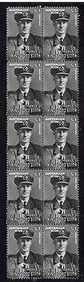 Kingsford Smith Aviation Pioneer Strip Of Mint Stamps 4