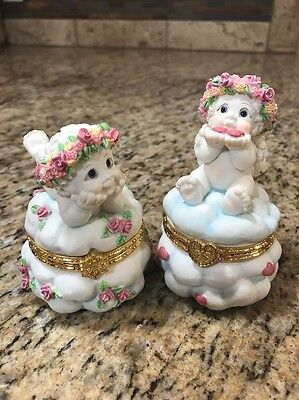 "(2) Dreamsicles ""Kiss Kiss"" And Trinket Box #10034 & Guardian Angel #10037"