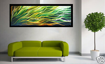 Aboriginal Art Painting Mangrove Breeze  Abstract  180cm  large green yellow