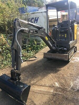 Volvo EC15 C Mini Digger 2012 Brand New Bucket