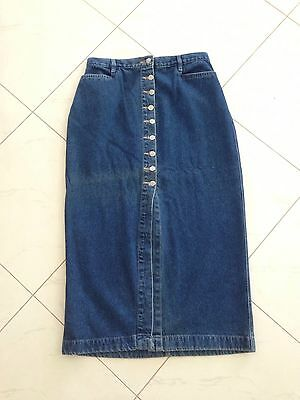 As New Women's Long Denim Skirt Size 14