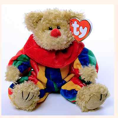 TY Attic Piccadilly The Clown Beanie Babies BEAR