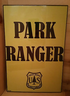 *PARK RANGER* U.S. FOREST SERVICE* 8x12 METAL SIGN IN PLASTIC SLEEVE