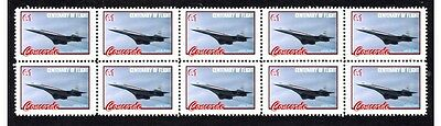 The Concorde Flight Centenary Strip Of10 Mint Stamps #3