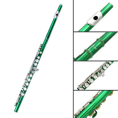 Green C Flute 16 Keys Hole With Case PERFECT FOR SCHOOL