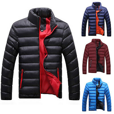 Men's Fashion Casual Slim Fit Stand Collar Thick Warm Coat Jacket Outerwear