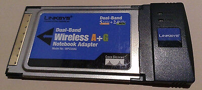 Linksys Dual-Band Wireless A+G Notebook PCMCIA PC Card Cardbus WiFi WPC55AG v1.3