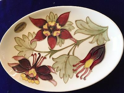 Beautiful Vintage Oval `moorcroft` Orchid Serving Dish