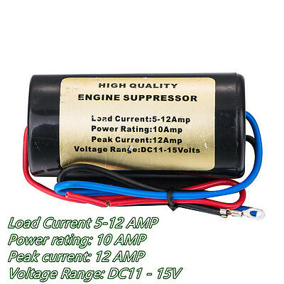 12V 10A Car Noise Engine Filter Killer Hum Tool For Off-Road Stereo Installation