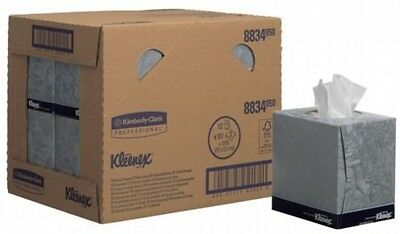Kleenex 8834 Facial Tissue, Cube, 90 Sheets Per Carton, 2-Ply, White (Pack Of