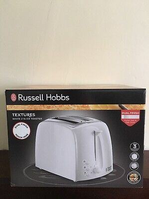 Russell Hobbs 21640 Textures 2 Slice Toaster Extra Wide Slots - White