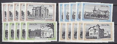 Stock Clearance! South West Africa 1984 - Buildings Of Swakopmund Set X 5 - Mnh