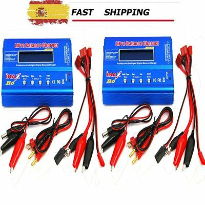 2 X iMax B6AC Balance Charger Discharger For RC Battery Dual Power Warranty AS