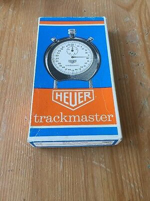 Genuine Vintage Boxed Heuer Trackmaster Stopwatch Rare