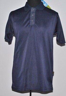 Wholesale Bulk Polo Shirt 13 x XS - 4XL Navy Breathable Polyester Work Wear Top