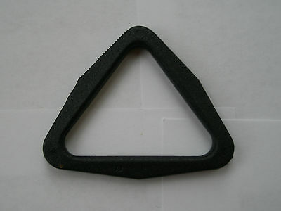 2 X Black Plastic Triangle Connectors For 35Mm To 40Mm Wide Webbing