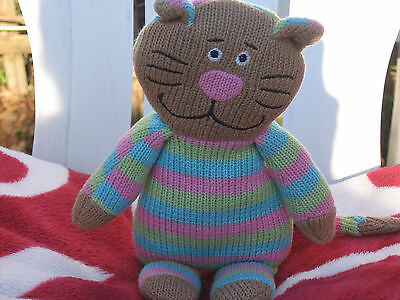 Knitted Soft Toy Cat
