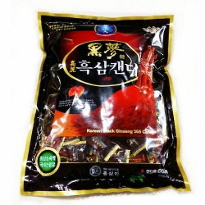 1 - 6 PCS Korean Red Ginseng Black Healthy Candy New Snack Food Bars moo
