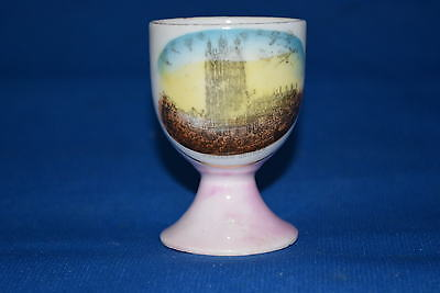Wrexham Church Pink Picture China Egg Cup - 4.5 Cms Dia X 6.5 Cms Deep